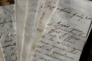 Photograph of handwritten eighteenth-century letters